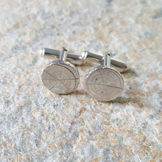 4604 Oak Arbor: Cufflinks, Sterling Silver