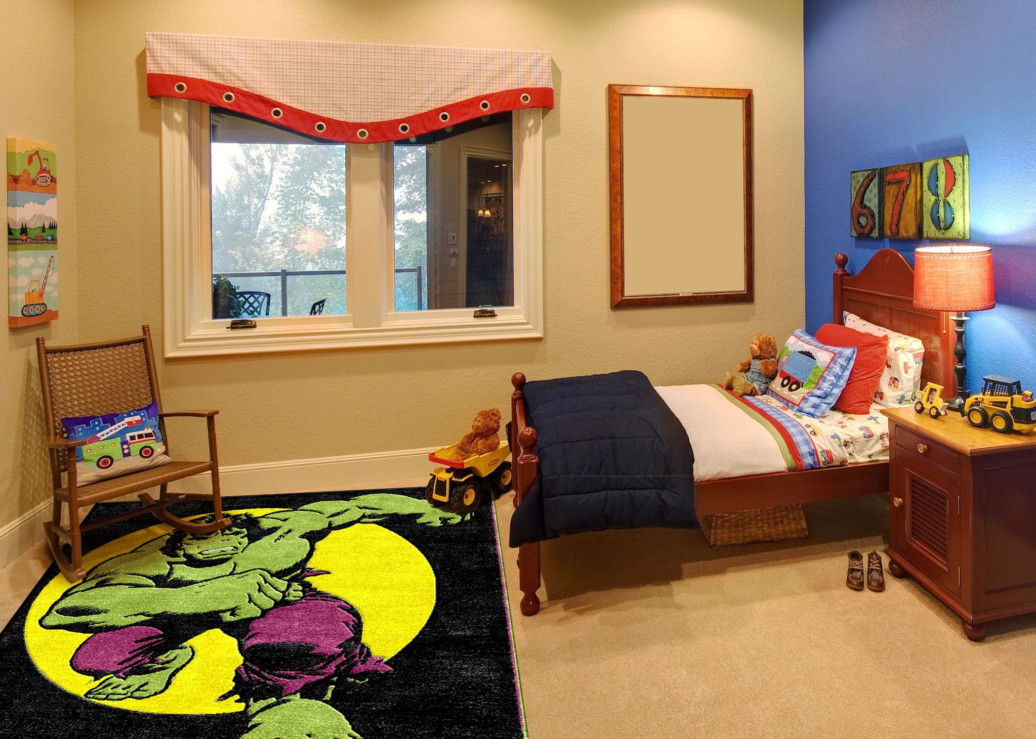 The Incredible Hulk Childrens Rug Bedroom Wall Stickerskids Room Designinterior