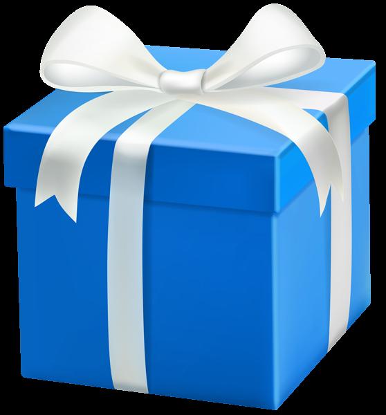 Blue Gift Box Transparent Clip Art Image Mensaje