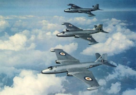 English Electric Canberra B2 RAF by BillsVintagePostCard on Etsy