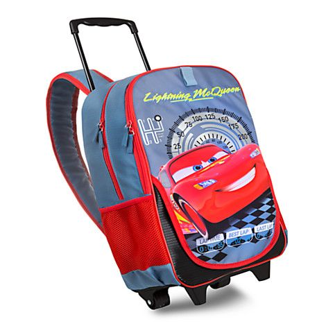 Lightning McQueen Rolling Backpack - Personalizable | Disney Store ...