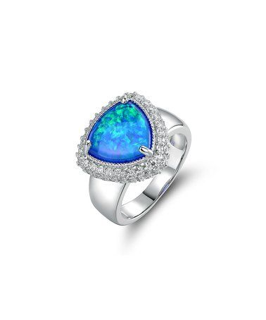 Love this Opal & Cubic Zirconia Ring on #zulily! #zulilyfinds