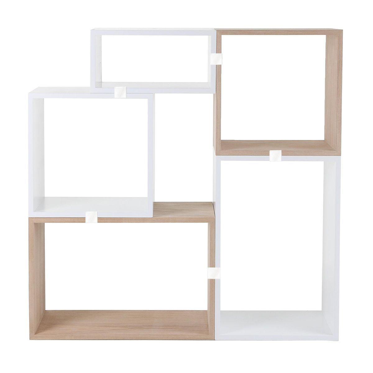 Sympathisch Regalsystem Günstig Sammlung Von Muuto - Stacked Esche/weiß Set 4 -