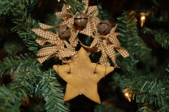 Primitive Christmas Ornament, Star Christmas Crafts Pinterest