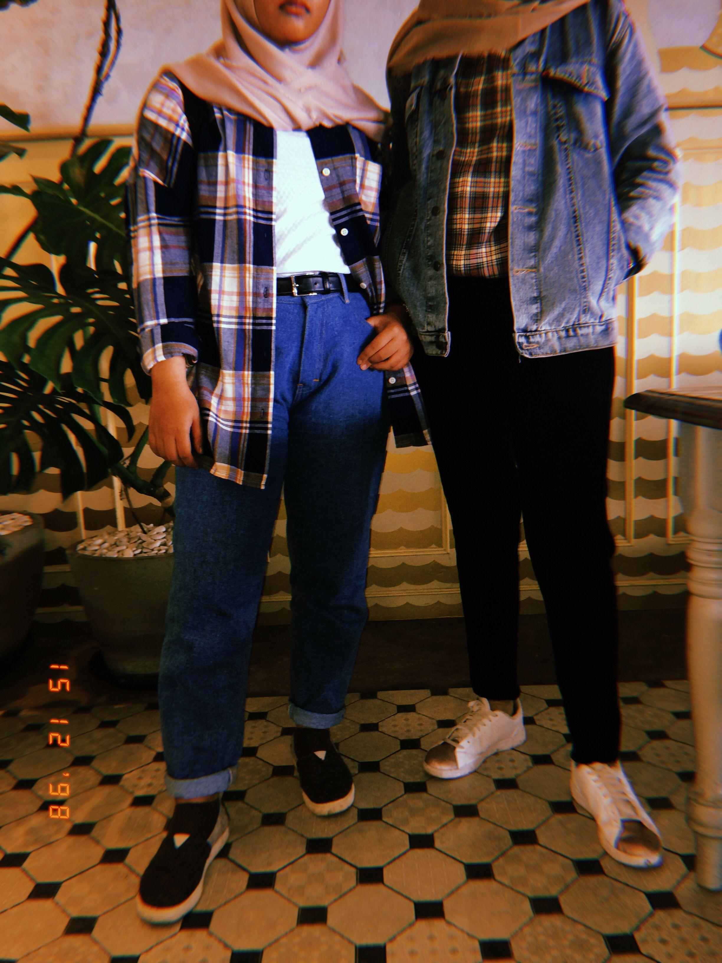 90 S Hijab Version Outfit Model Pakaian 90 An Gaya Grunge