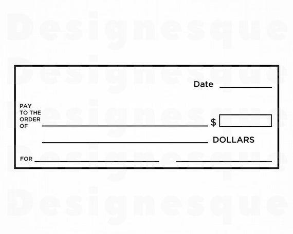 Check Template Svg Blank Check Svg Bank Account Svg Money Etsy In 2021 Money Template Blank Check Templates