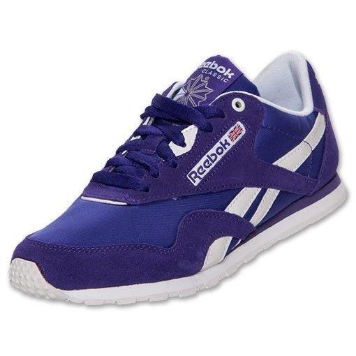 7503ba68ade Reebok Classic Nylon Slim Womens Running Shoe V48310 Size 7 PURPLE ...