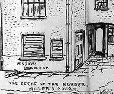 A press sketch of  13 Miller's Court scene of the murder of Mary Kelly, the last victim of #jacktheripper.