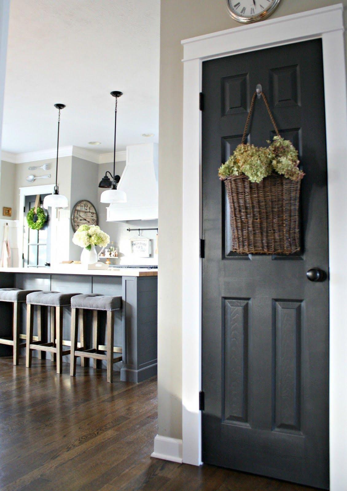 Black Interior Doors How To Interiorpaintcolors Best Interior
