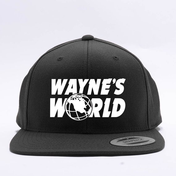 8487006e Wayne's World Embroidered Party Costume Adjustable Baseball Cap - 4 Styles  - Dad Cap and FlexFit Sna