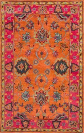 Area Rugs In Many Styles Including Contemporary Braided Outdoor And Flokati Shag Rugs Vibrant Rugs Rugs Orange Rugs