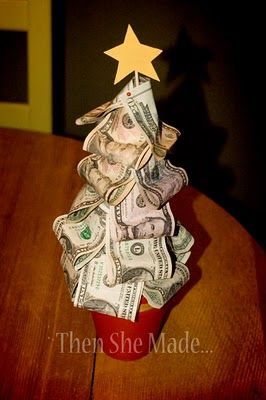 Easy last minute diy gifts money trees christmas tree and gift money tree christmas gift they can save up and buy the big presents that they want but no one can afford to give them instead of gifting them money in a negle Choice Image