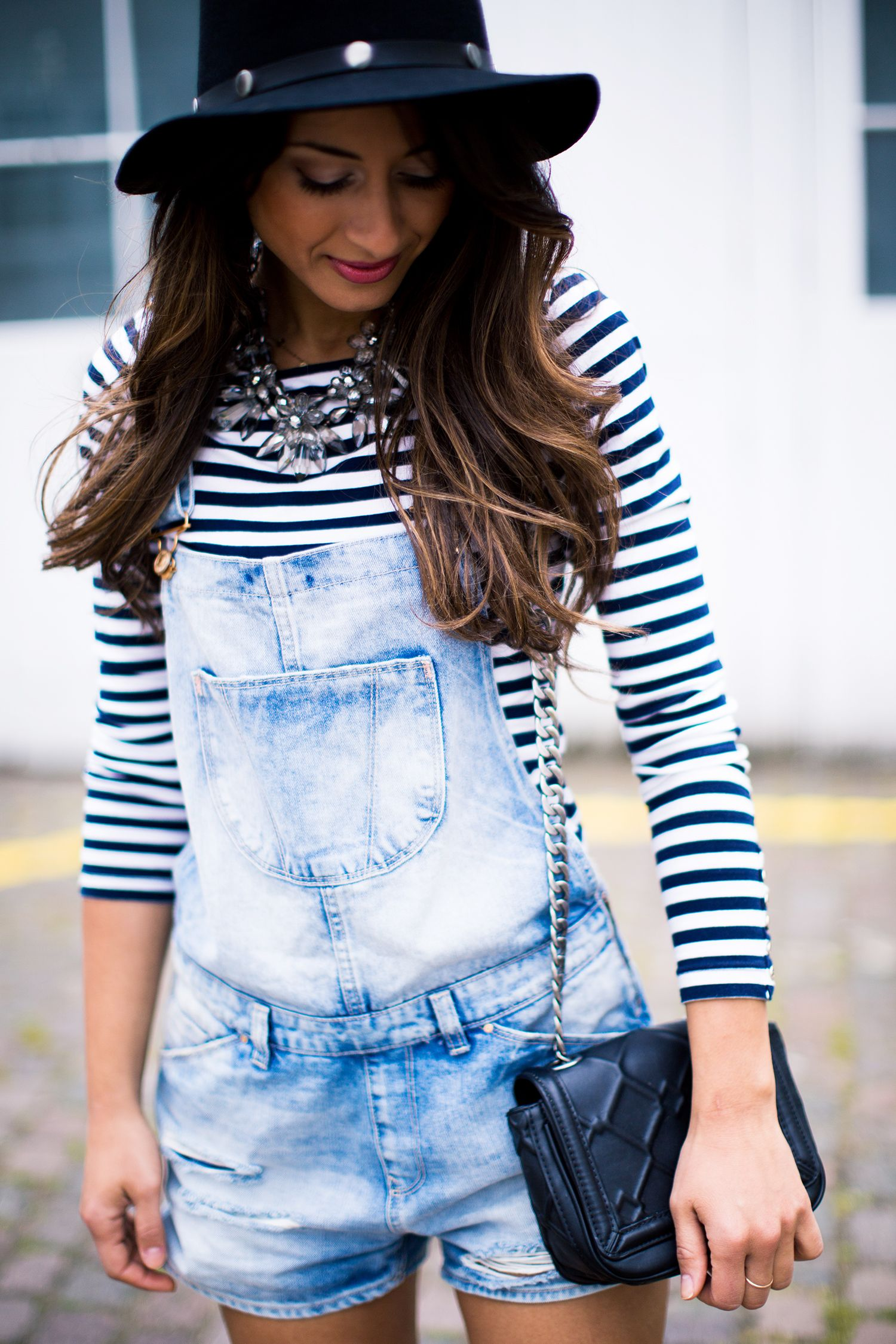 French Sailor - cute summer outfit with overalls From my u0026quot;Three ways to wear overallsu0026quot; video ...