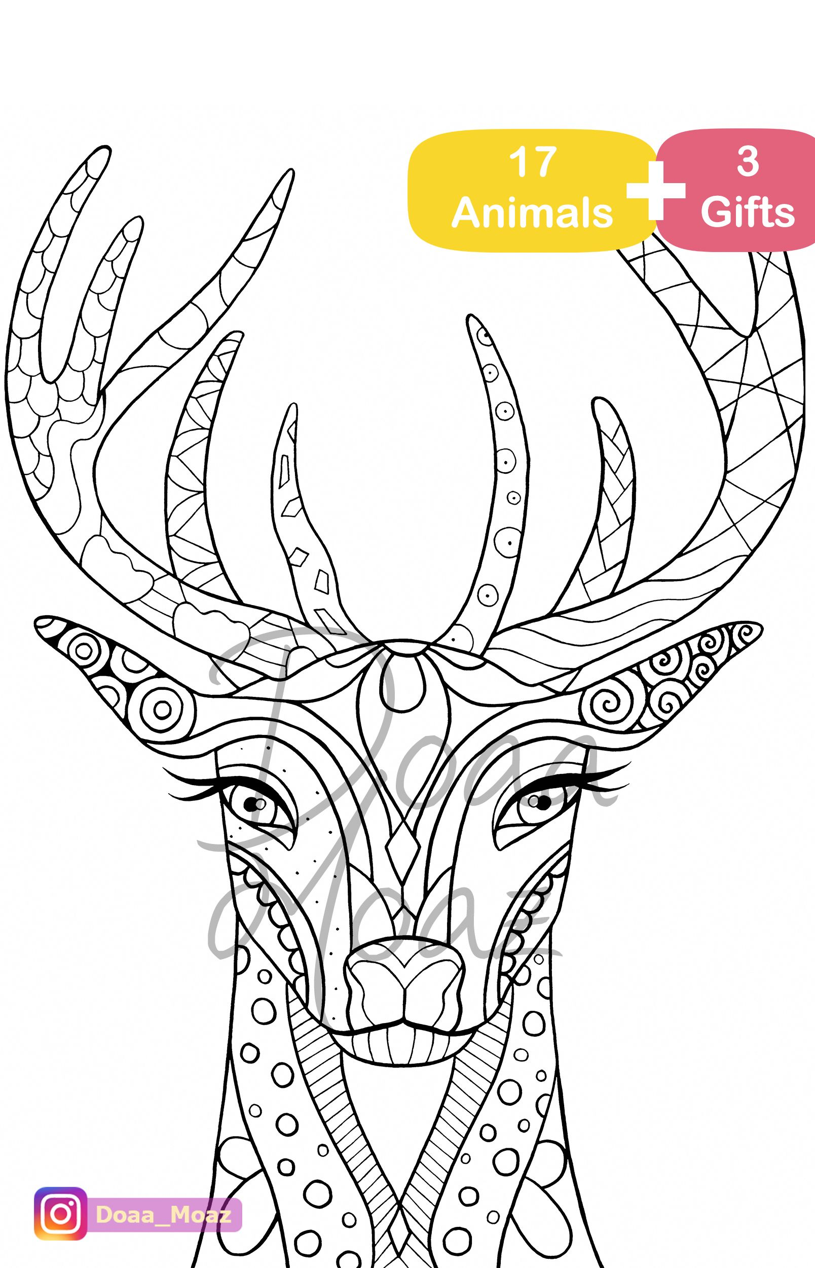 Printable Coloring Book 17 Animals Coloring Pages
