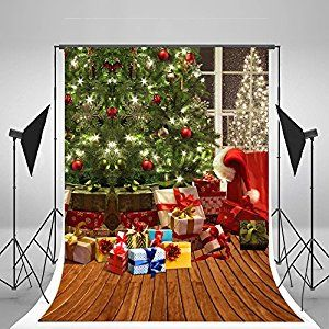Amazon.com : 5x7ft Kate Christmas Tree Photography Backdrops Brown Wood Floor Backdrop No Wrinkles for Children Christmas Background : Camera & Photo