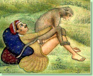 Секс мужчины с обезьяной