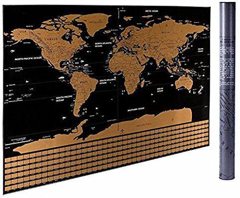 Large World Map Amazon.Amazon Com Fossa Scratch Off World Map Wall Poster Large 32 X 23