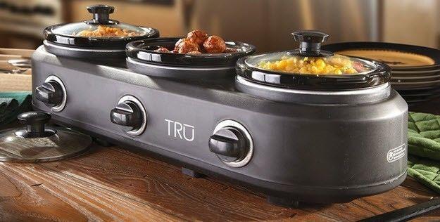 Crock Pot Electric 3 Slow Cooker Burners Buffet Warmer Server Heat Serve Caterer For The House