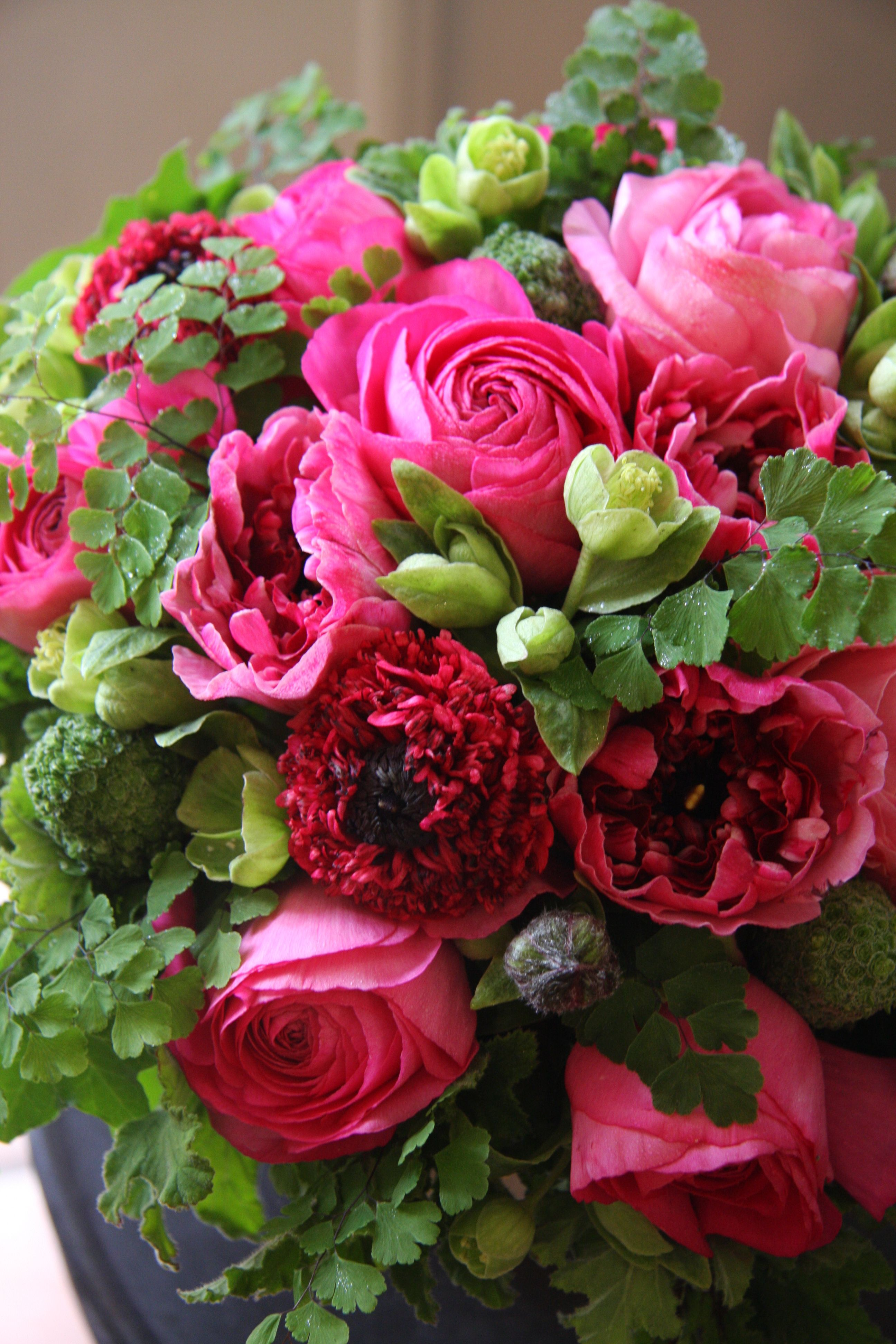 Lovely hot pink flowers! Beautiful flower arrangements