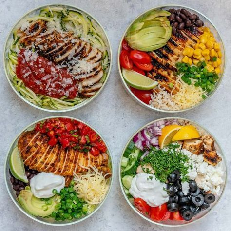 Photo of Grilled Chicken Meal Prep Bowls 4 Creative Ways for Clean Eating!