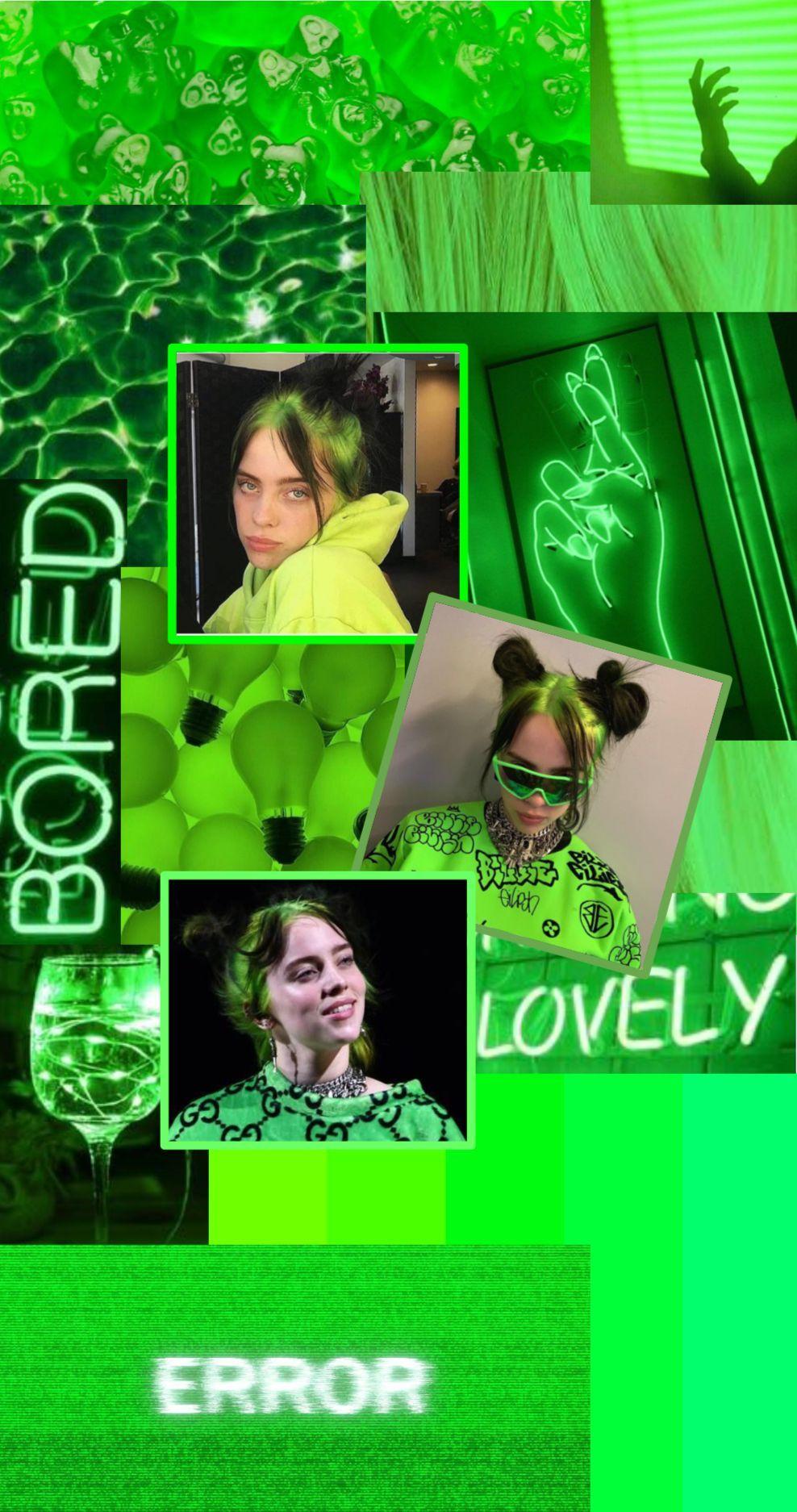 Wallpaper Billie Eilish Green Wallpaper Billie Billie Eilish