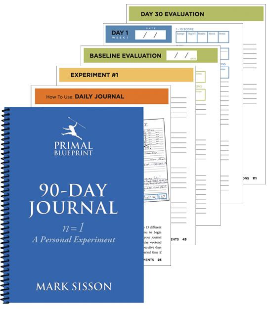 Introducing the primal blueprint 90 day journal journal food introducing the primal blueprint 90 day journal marks daily apple malvernweather Choice Image