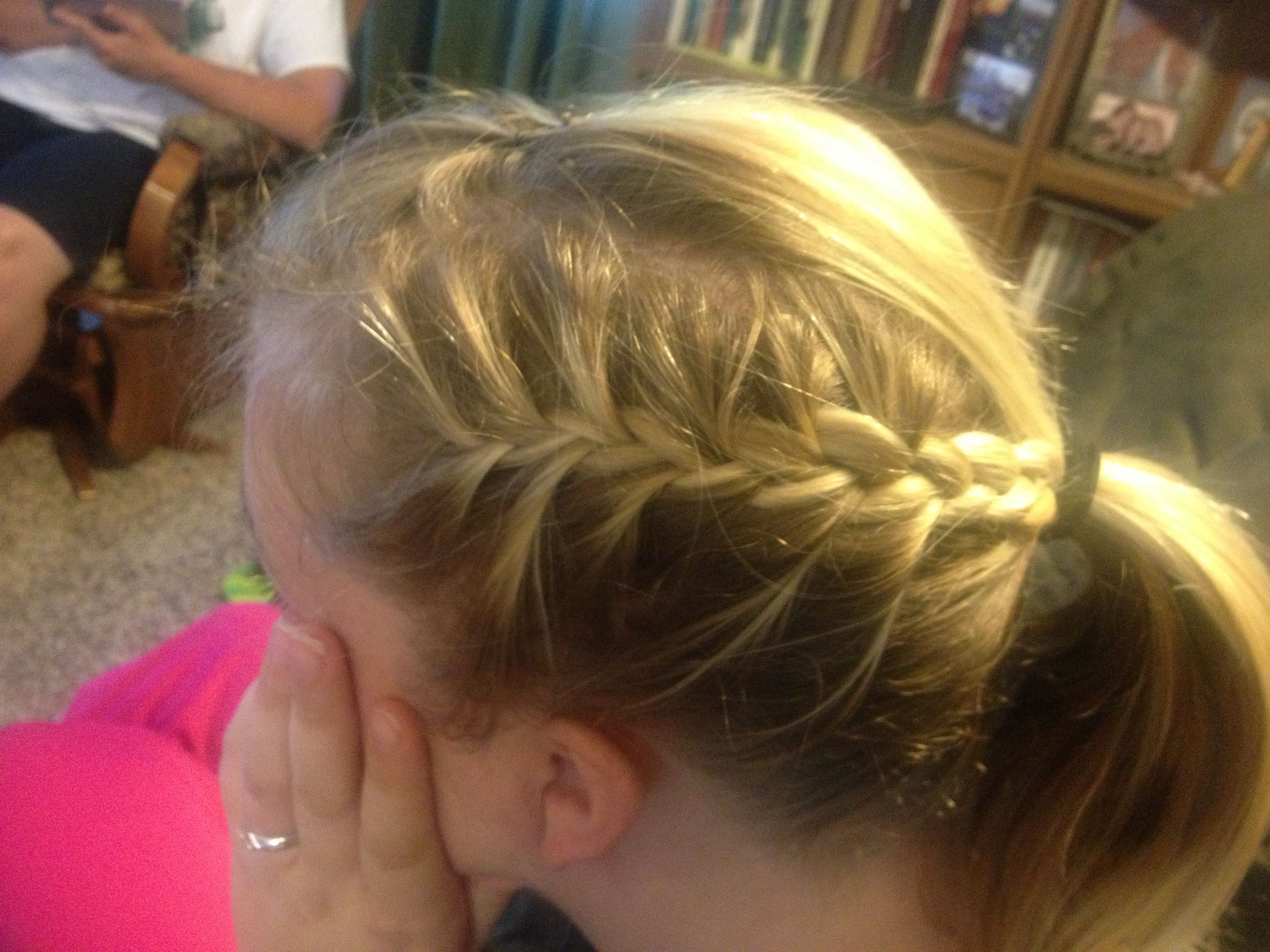 2 French Braids Into A High Ponytail With Bangs Back Hair Styles French Braid High Ponytails