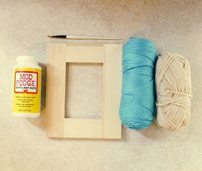 Materiales para hacer un marco casero decorado con lanas - Materiales para hacer paredes ...