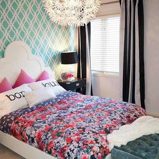Stylishly Stenciled Bedroom Ideas Accent Wall Bedroom
