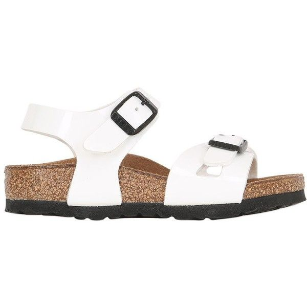 Birkenstock Kids-girls Rio Faux Leather Sandals (565 NOK) ❤ liked on Polyvore featuring white