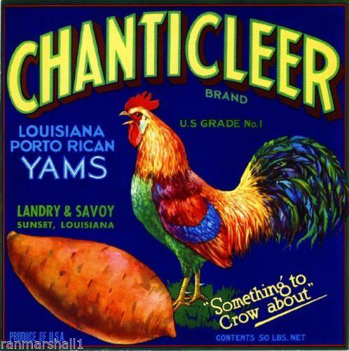 Sunset Louisiana Smoky Jim/'s Yams Yam Sweet Potato Vegetable Crate Label Print