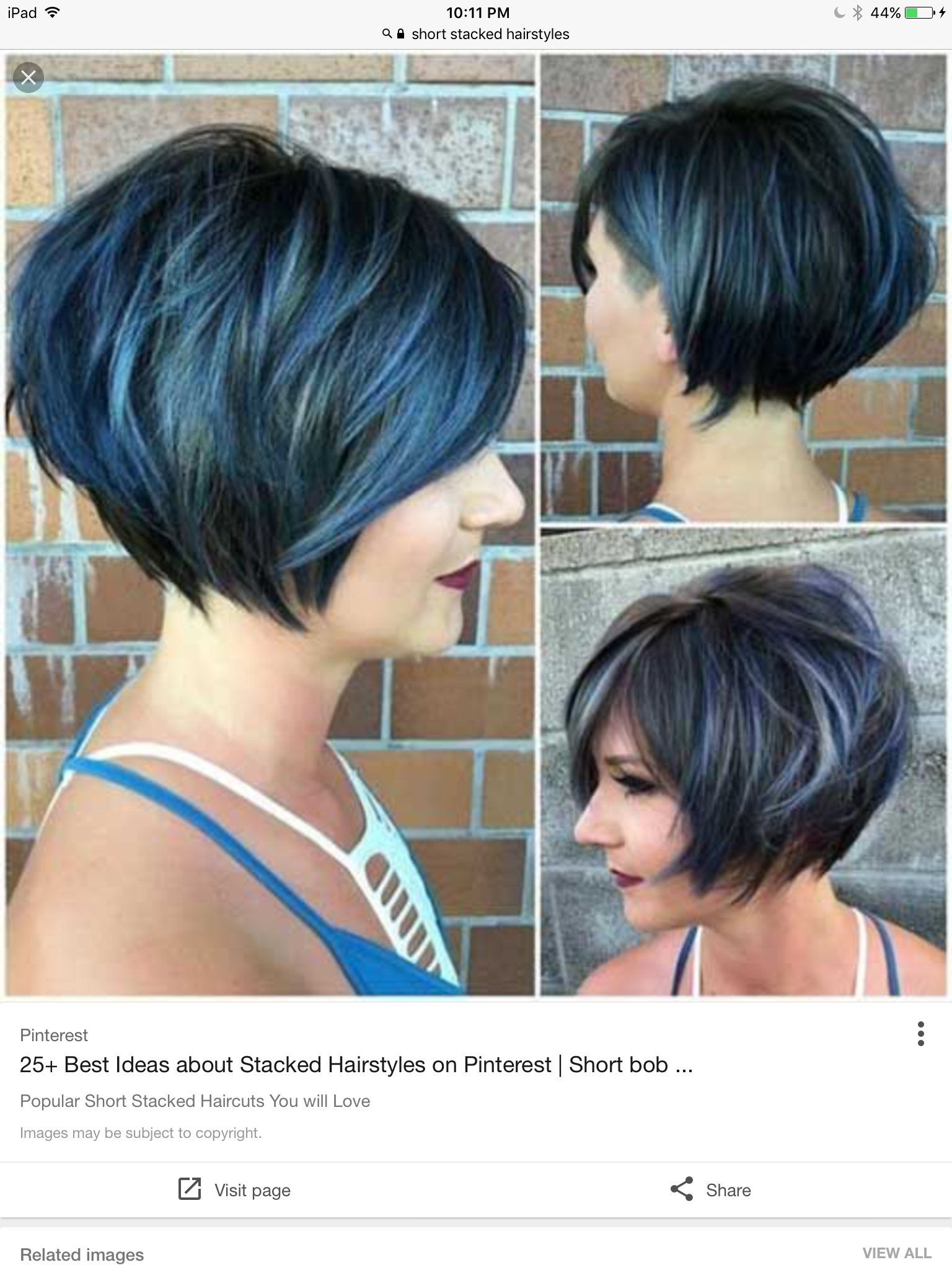 Love this!   Short stacked hair, Short stacked haircuts, Stacked hair