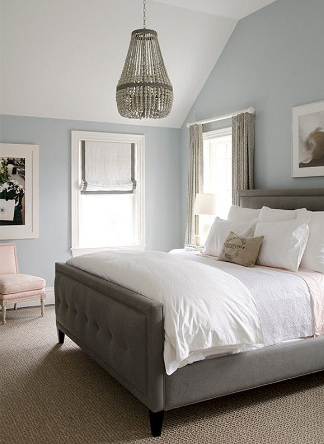 Interior Paint Color And Color Palette Ideas With Pictures Benjamin Moore 2131 60 Silver Gray Remodel Bedroom Home Bedroom Blue Bedroom Walls