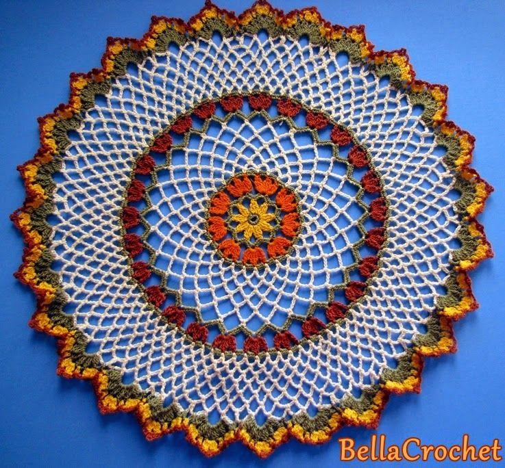 BellaCrochet: Turkey Tracks Doily: A Free Crochet Pattern for You ...