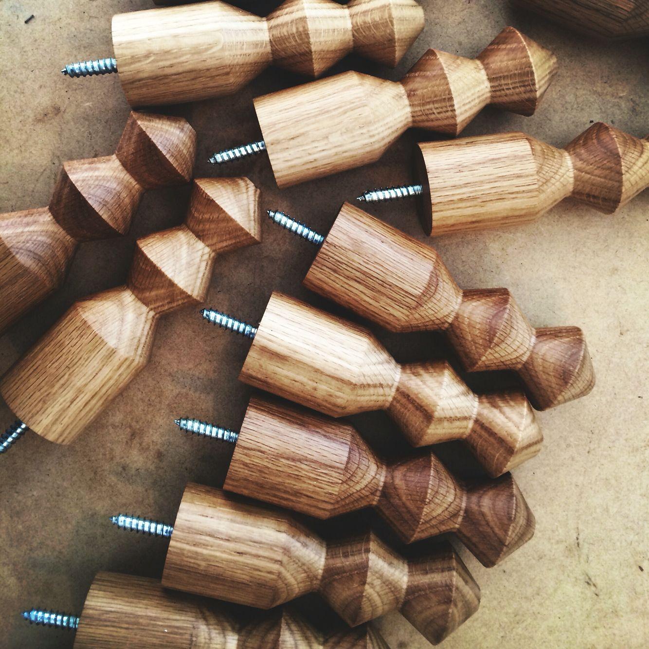 Pleated Wall hook - in American Oak - by Marz Designs