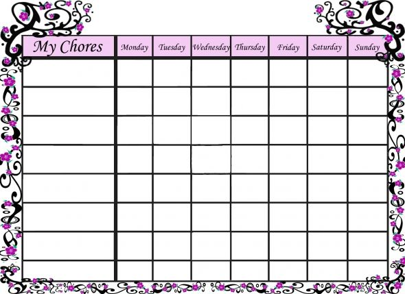 website for lots of different chore charts home schooling ideas