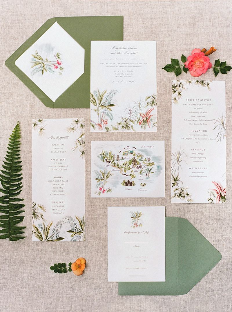 Jolly Edition Bali wedding stationery illustrated by Laura Shema ...