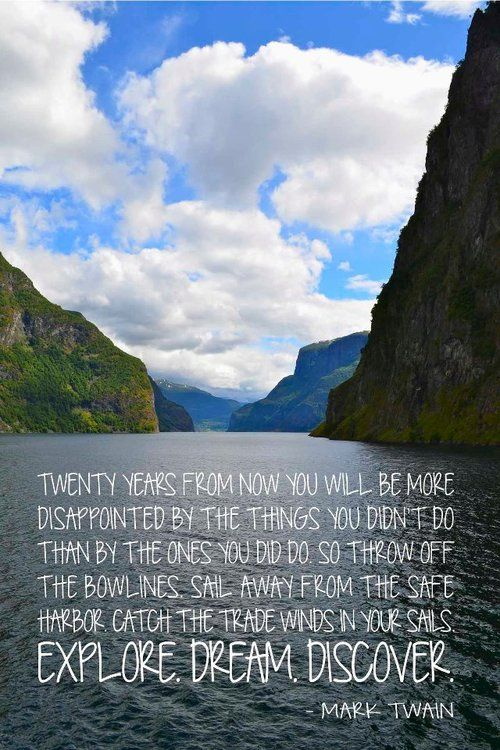 Pin By African Impact On We Love Travel Travel Quotes Mark Twain Quotes Explore Dream Discover