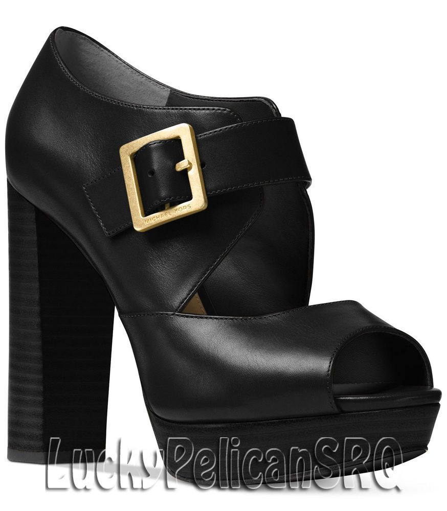 e01c92175de Michael Kors Eleni Mary Jane Platform Pumps M(Medium) Black NWB   MichaelKors  Platformpumps