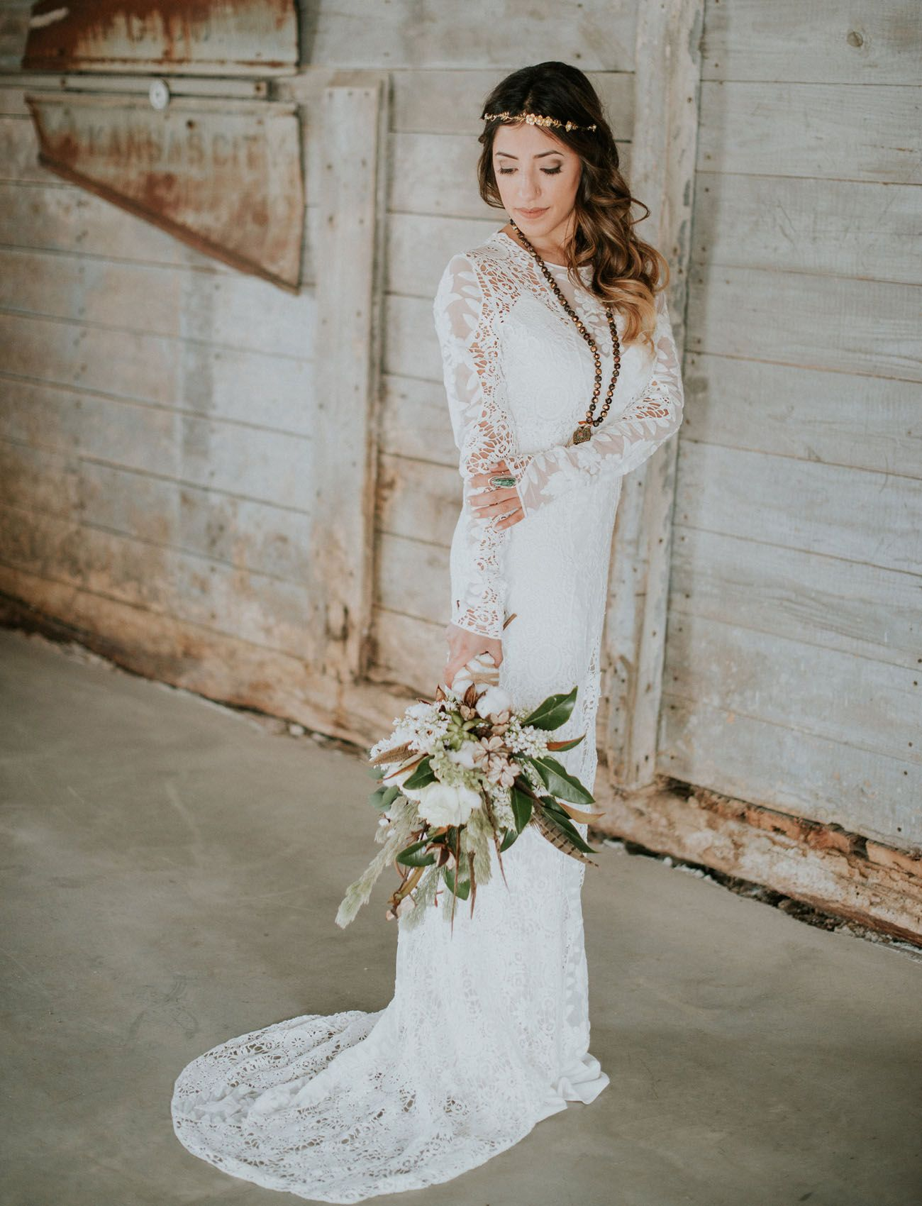 5b3940eaa173 Lace-sleeved Rue de Seine dress Bohemian Wedding Inspiration, Boho Wedding,  Floral Wedding