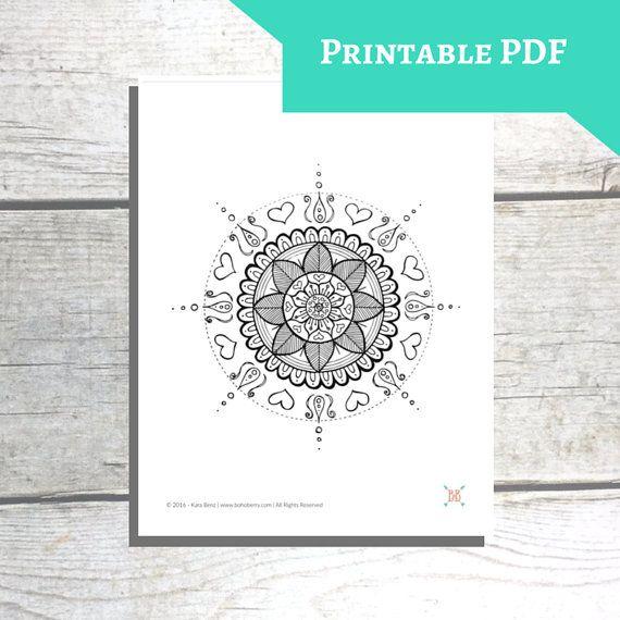 Printable Mandala Coloring Page Mandala Malvorlagen Mandala Ausmalen