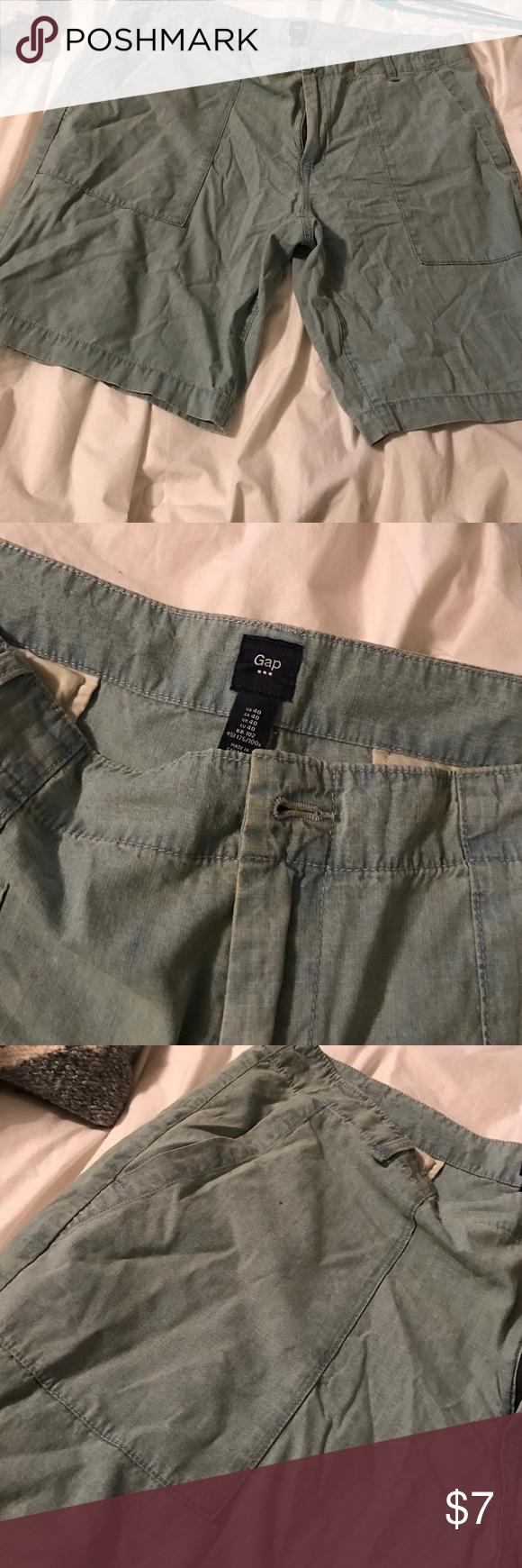 Gap light denim shorts 40 Gap light denim men's shorts 40 used GAP Shorts Flat Front