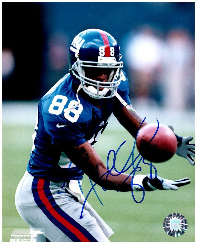 New York Giants Ike Hilliard Signed Autographed 8x10 Photo A Ebay New York Football New York Giants Football New York Giants