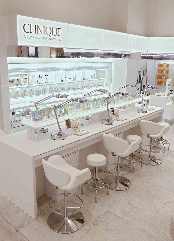 BEAUTY STORES! Clinique shop at Selfridges, London store design