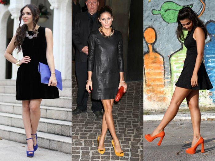 Vestido preto qual o sapato