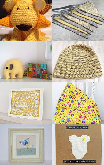 Beautiful Yellow Baby Makes! Curated by @PLPDesigns by Helen Whitehead on Etsy--Pinned with TreasuryPin.com