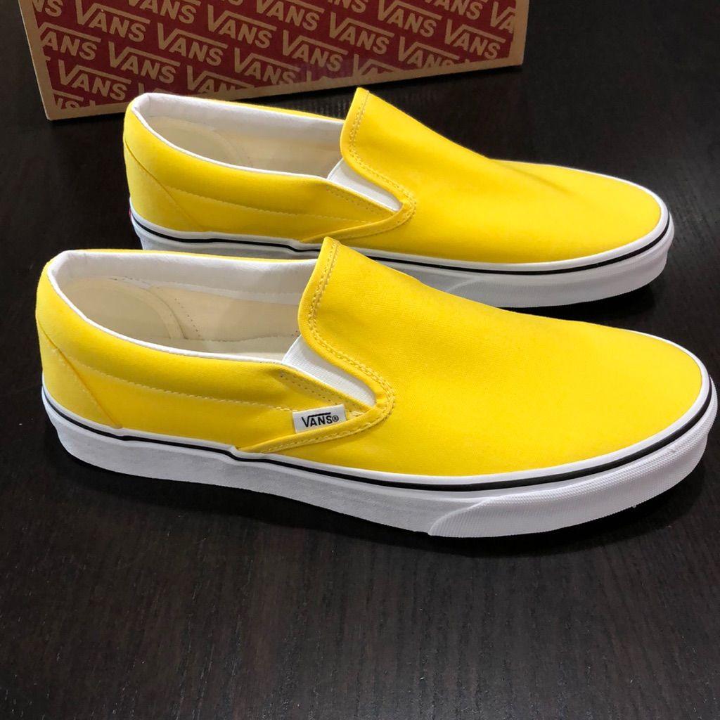 Vans slip on, Yellow vans, Yellow slip