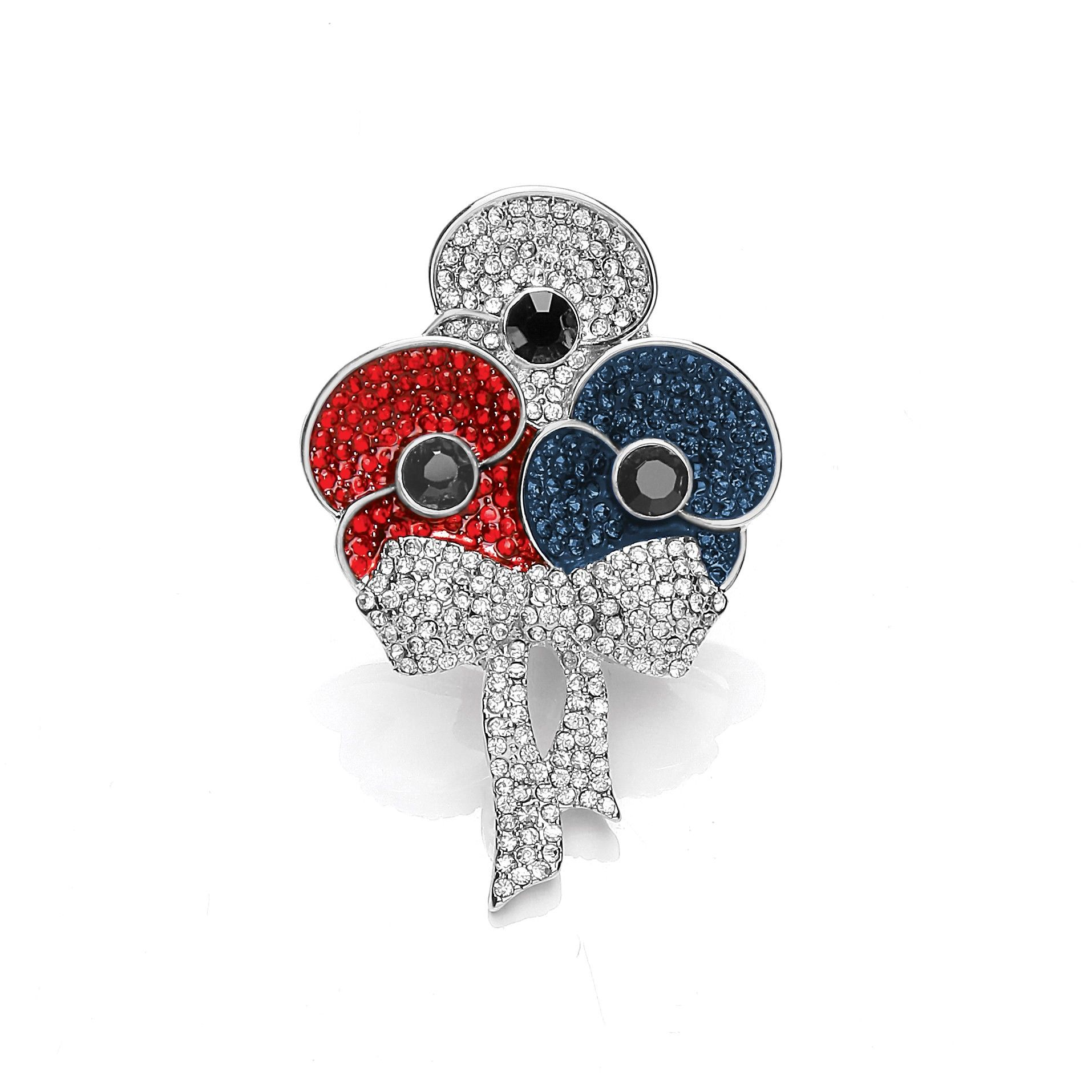 The Official RBL British Bouquet Poppy Brooch Poppy