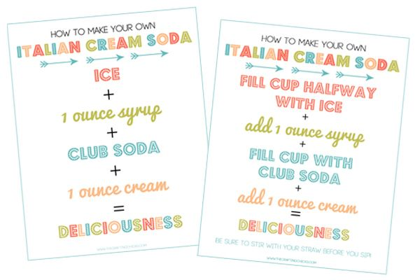 Make Your Own Delicious Italian Cream Sodas Free Printable With Images Italian Cream Soda Cream Soda Soda Recipe