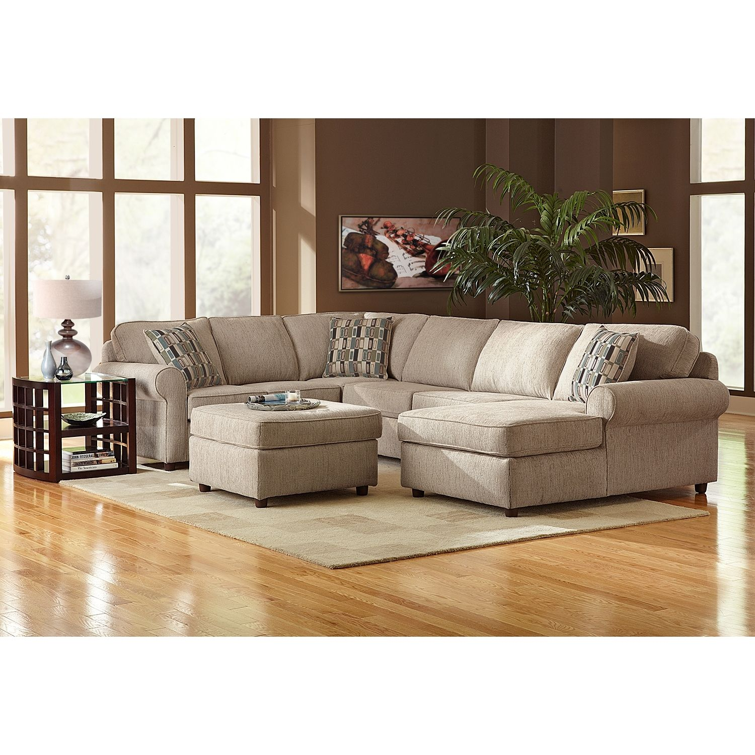 Monarch II Upholstery 3 Pc Sectional Furniture